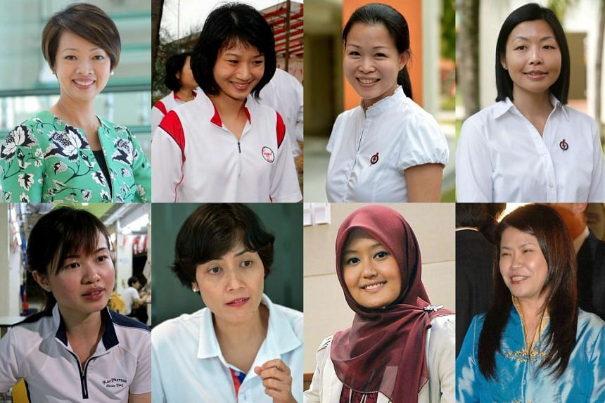 Top row (from left): Ms Foo Mee Har, Ms Sun Xueling, Ms Cheng Li Hui, Ms Cheryl Chan. Bottom row (from left): Ms Tin Pei Ling, Ms Joan Pereira, Ms Rahayu Mahzam and Ms Penny Low.