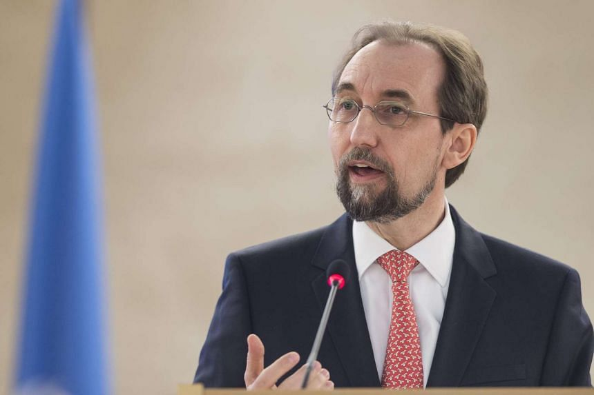 """Last month, UN rights chief Zeid Ra'ad Al Hussein called on China to release lawyers and activists being held """"immediately and without conditions""""."""