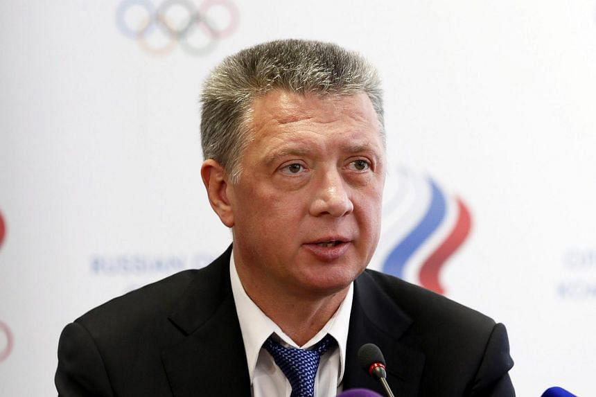 A file photograph dated Jan 16, 2016 of Russia's Athletics Federation (Araf) president Dmitry Shlyakhtin during a press conference in Moscow.