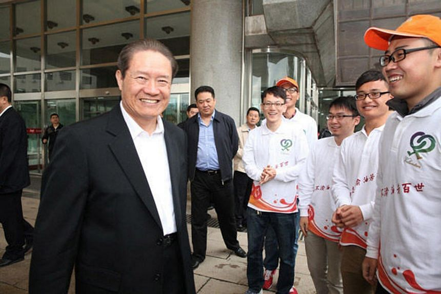 China's former security czar Zhou Yongkang at his former university on Oct 1, 2013.