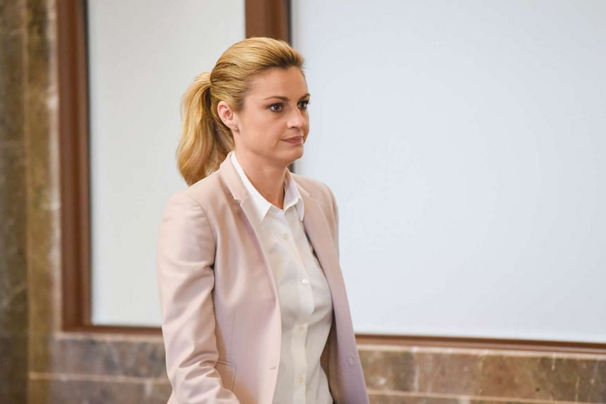 Sportscaster Erin Andrews at a courtroom in Nashville, Tennessee, on March 1.
