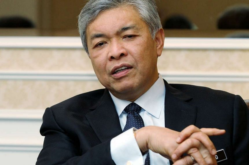 Malaysia's Deputy Prime Minister Ahmad Zahid Hamidi (above) said that Prime Minister Najib Razak was among the top Malaysian officials that ISIS targeted for kidnapping last year.