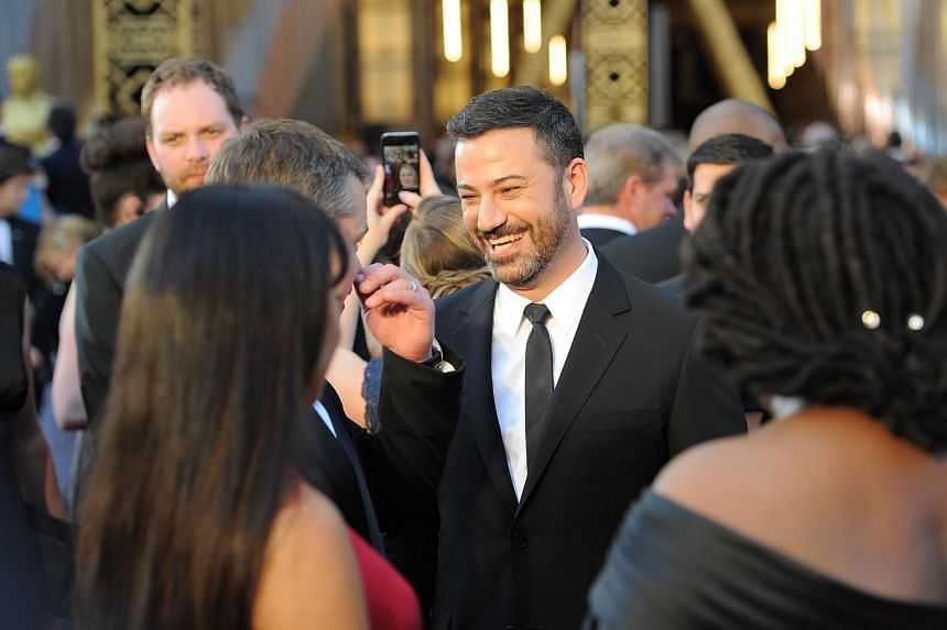 Jimmy Kimmel arriving at the 88th Oscars in Hollywood, California, on Feb 28.