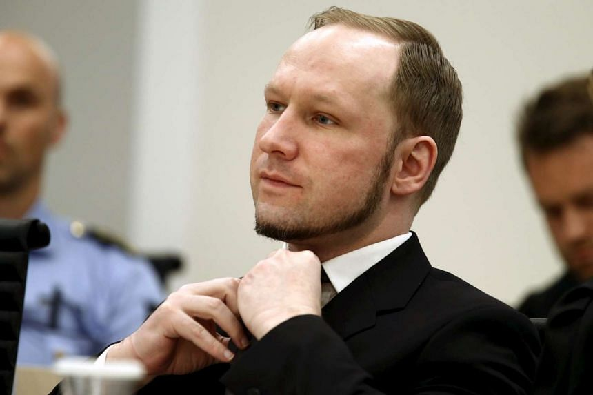 Norwegian mass killer Anders Behring Breivik in an Oslo court which handed out a 21-year prison sentence to him for murdering 77 people in 2011.