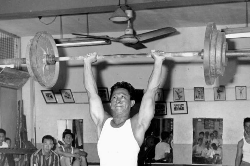 Tan Howe Liang in 1966. He had attained a world record, an Olympic silver, two Commonwealth gold and an Asian Games gold.