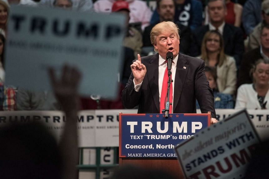 Republican presidential candidate Donald Trump addresses the crowd at a campaign rally in North Carolina, on March 7, 2016.