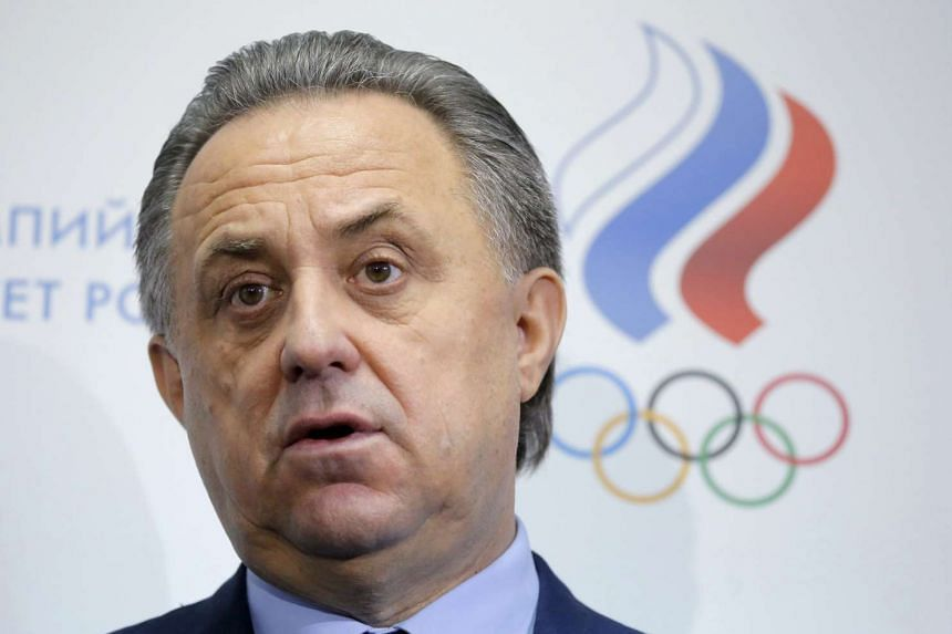 Russia's Sports Minister Vitaly Mutko speaks to the media during a news conference in Moscow, Russia, on Jan 16, 2016.