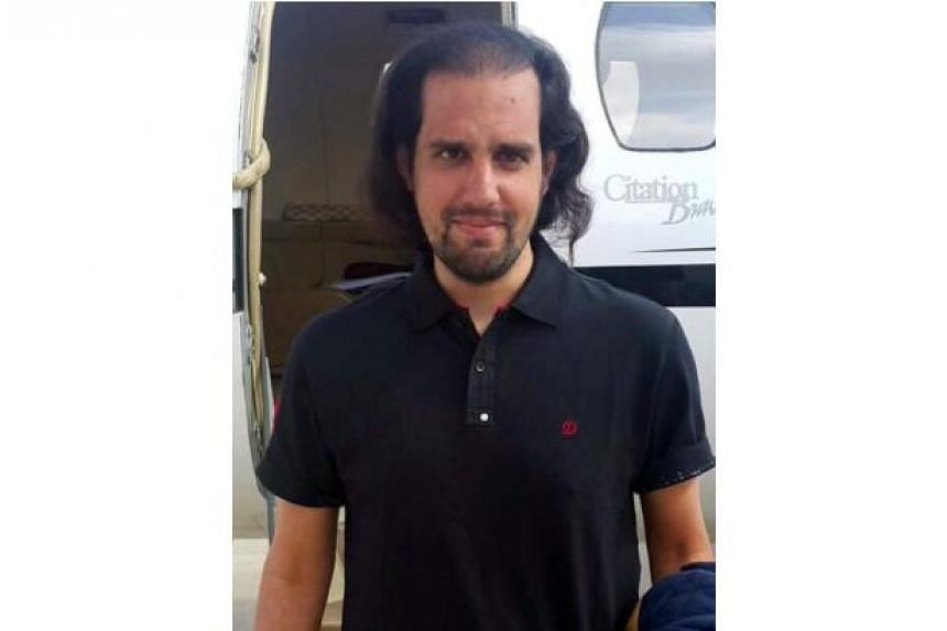 Shahbaz Taseer, photographed before boarding a chartered plane in Quetta on his way to Lahore, Pakistan on March 9, 2016.