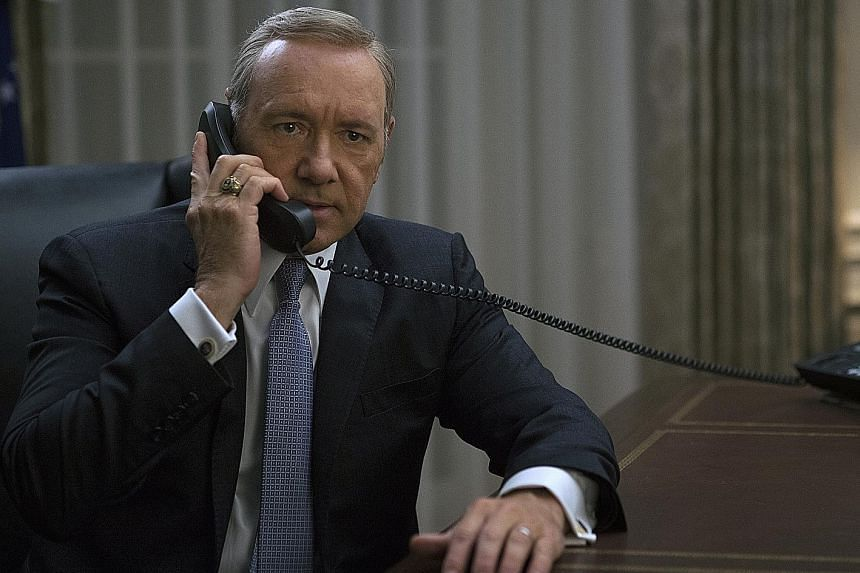 Kevin Spacey plays the scheming President of the United States in House Of Cards.