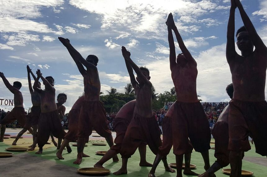 A dance performance after the total solar eclipse.