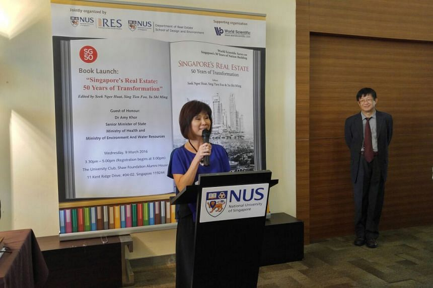 Senior minister of state for health Dr Amy Khor at the book launch. PHOTO: WONG SIEW YING