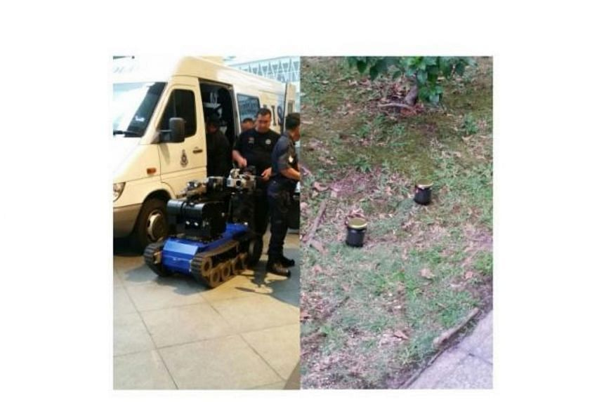 Two bottles containing what is believed to be an improvised explosive device were found at the Kuala Lumpur Convention Centre on March 9, 2016.