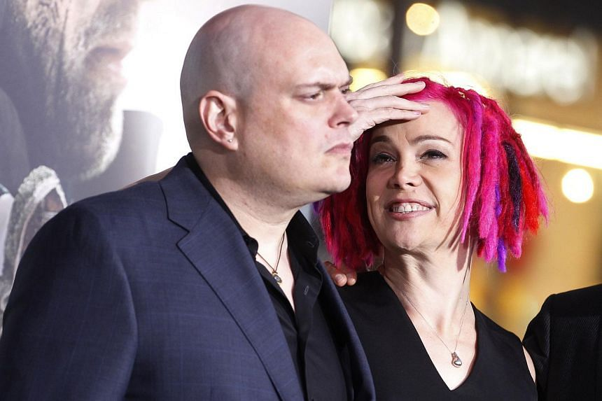Lilly Wachowski (left), formerly known as Andy, and sibling Lana Wachowski arriving at Cloud Atlas' premiere in Hollywood, California on Oct 24, 2012.