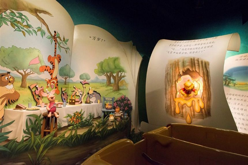 The Many Adventures of Winnie the Pooh ride at Shanghai Disneyland.