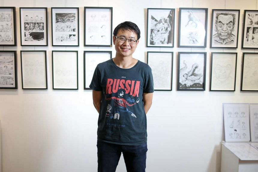 Sonny Liew holds an exhibition of original art from his graphic novel The Art Of Charlie Chan Hock Chye.