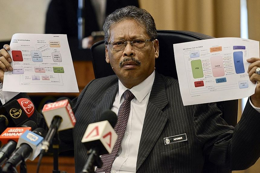 Tan Sri Apandi Ali, the Attorney-General, had inadvertently shown a flow chart of the SRC International money transfer, said an opposition MP.