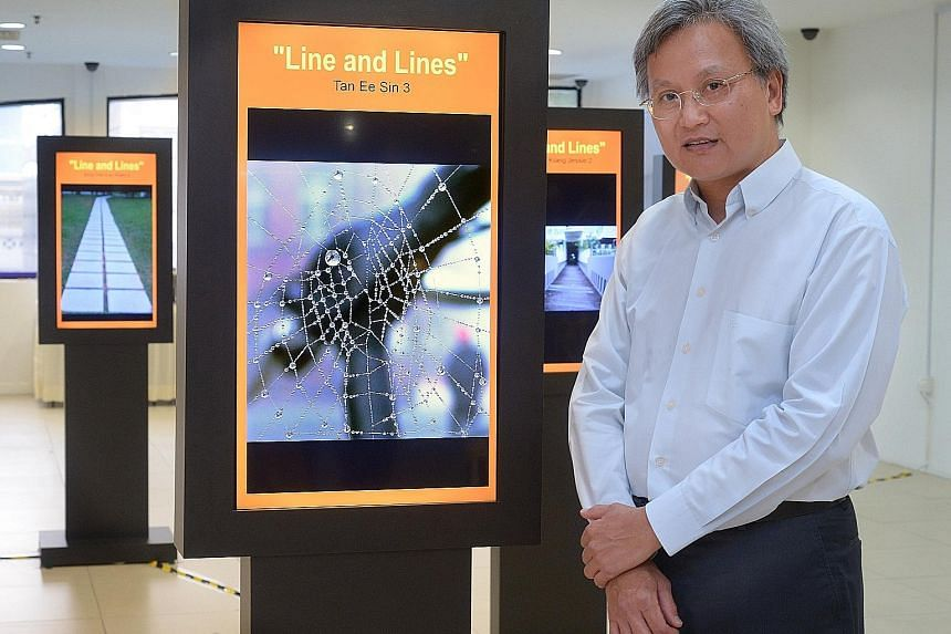 UniSIM digital photography technology student Tan Ee Sin, 57, an engineer, won first prize for his photo, Water Web, at the exhibition. The course enjoys steep subsidies under the SkillsFuture initiative.