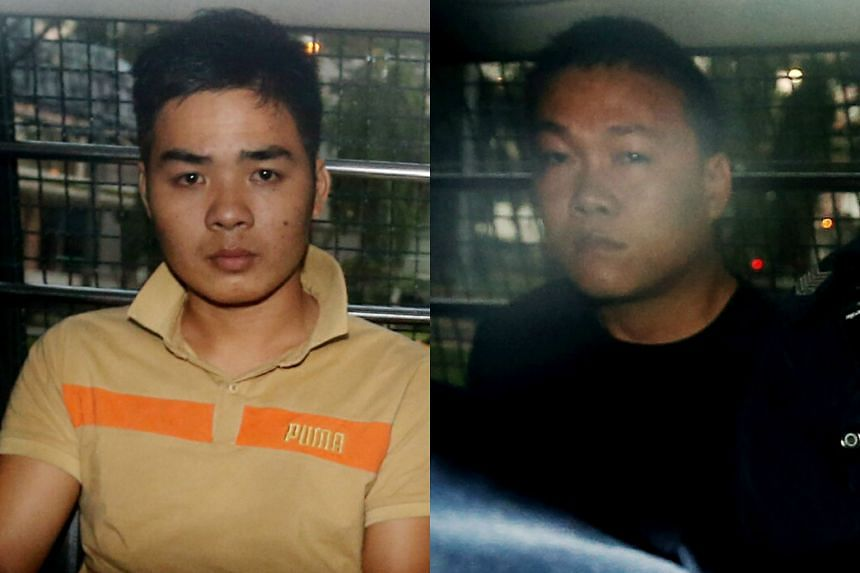 Vietnamese tourists Nguyen Van Nhat (left) and Ngo Quang Phuoc were each jailed 4½ years for stealing $500,000.
