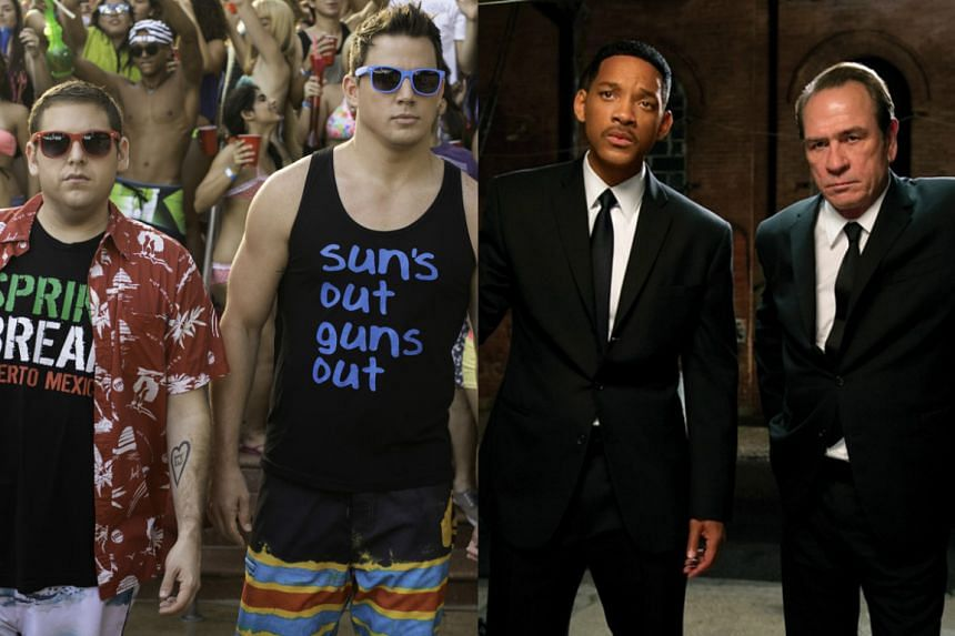 Muppets director James Bobin confirmed long-rumoured plans for a 23 Jump Street (left) and Men In Black crossover on Wednesday.