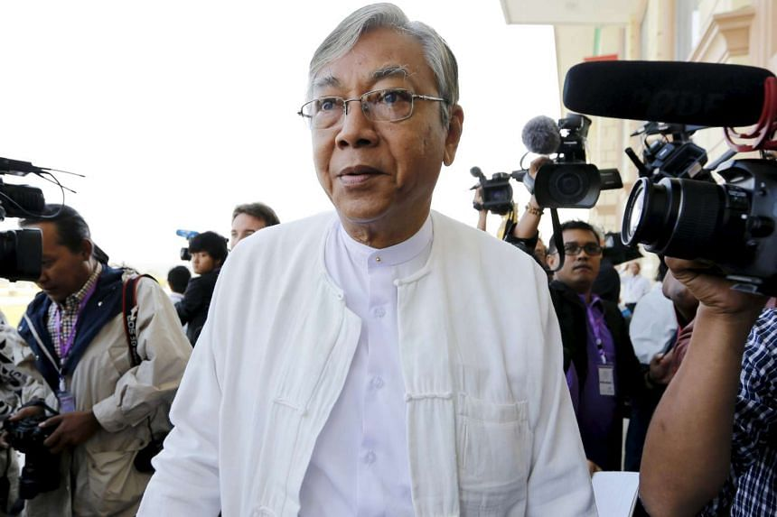 National League for Democracy's Htin Kyaw arriving for the opening of the new parliament in Naypyitaw on Feb 1, 2016.