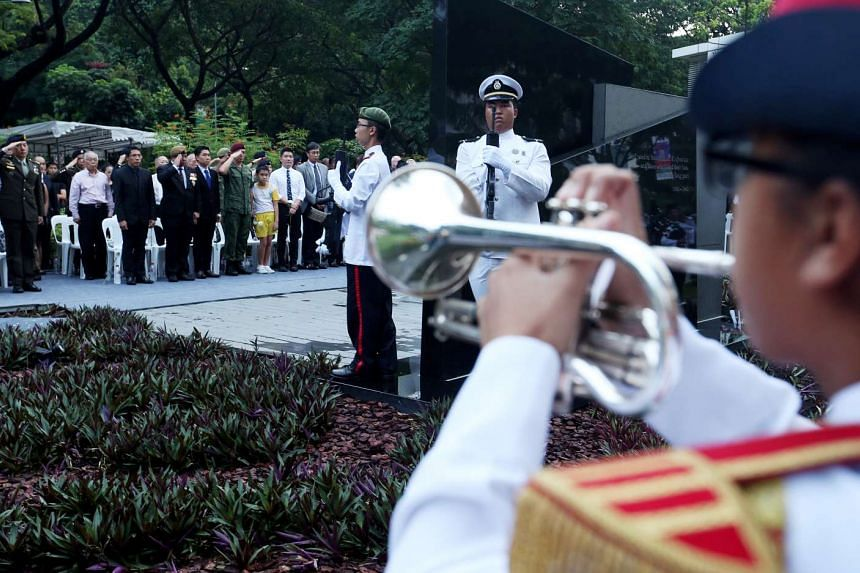 More than 150 people attended the ceremony at the Konfrontasi memorial site opposite the Cathay building.