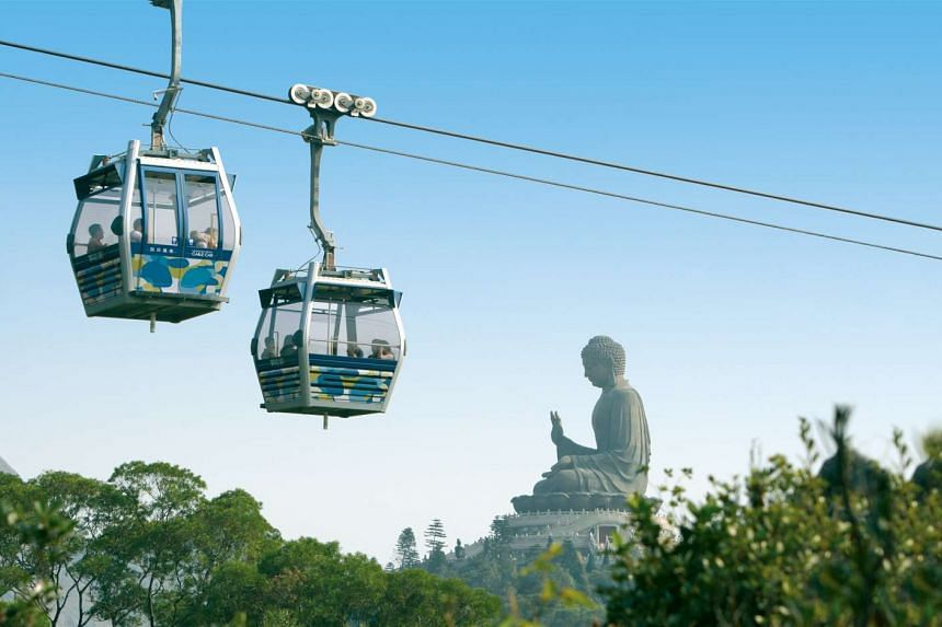 Lantau Island's Big Buddha is one of Hong Kong's most iconic landmarks, and getting there via the Ngong Ping cable car allows visitors to have another unique experience.