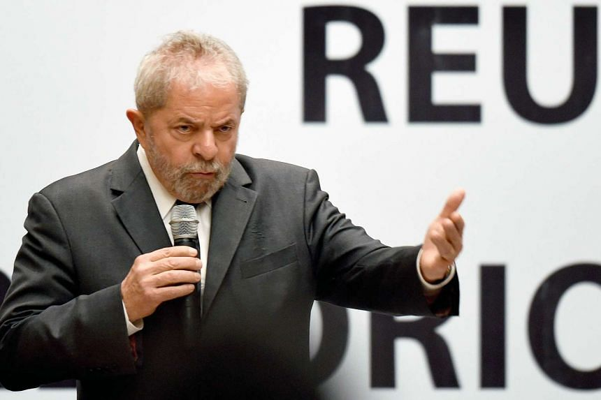 Former Brazilian President Luiz Inacio Lula da Silva during a meeting of the Workers Party's National Leadership in Brasilia, on Oct 29, 2015.