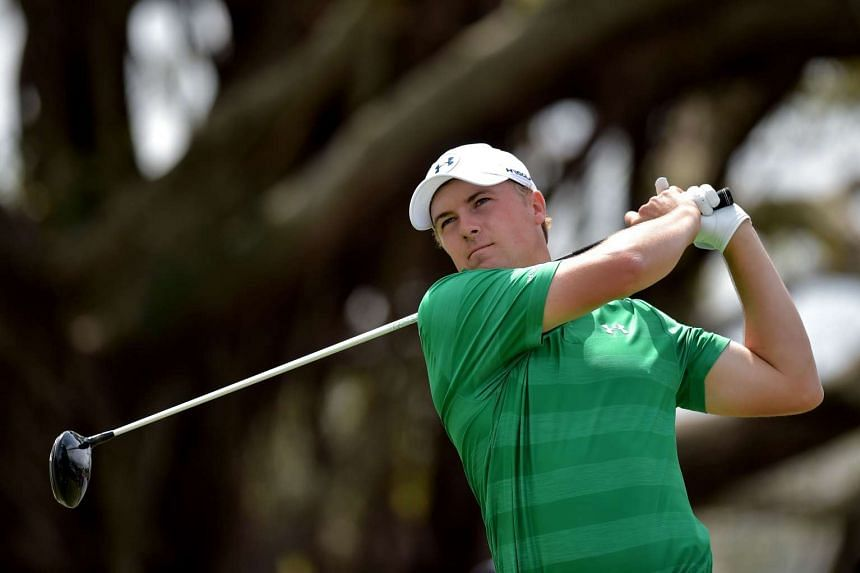 Jordan Spieth tees off on the fifth hole at the World Golf Championships-Cadillac Championship, on March 5, 2016.