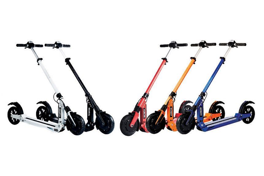 The Mobot Sport (above) can be folded to fit into your car boot or carried by hand on the MRT.