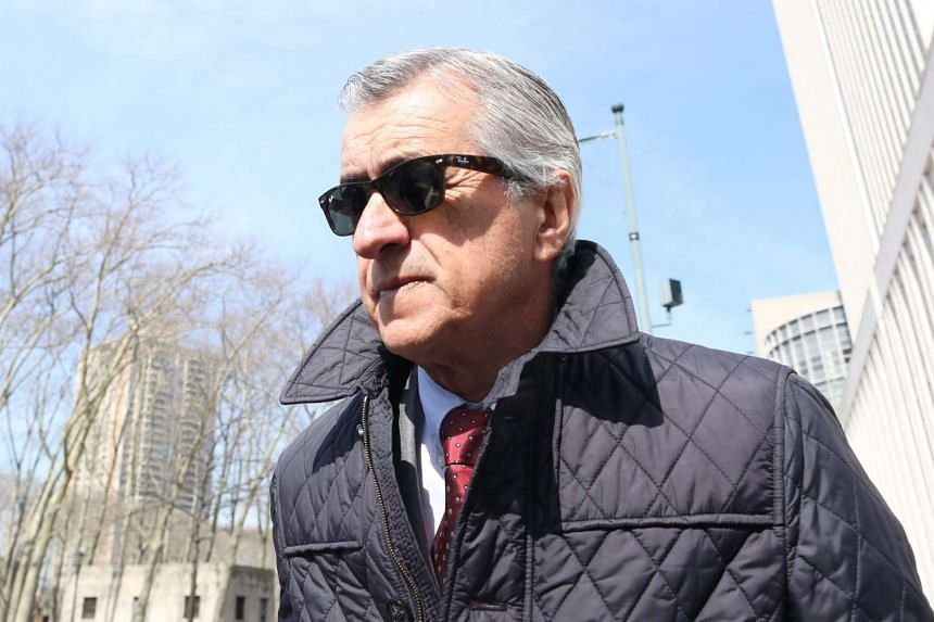 Former Fifa match agent Miguel Trujillo leaves a hearing at the federal courthouse in Brooklyn, New York, on March 8, 2016.