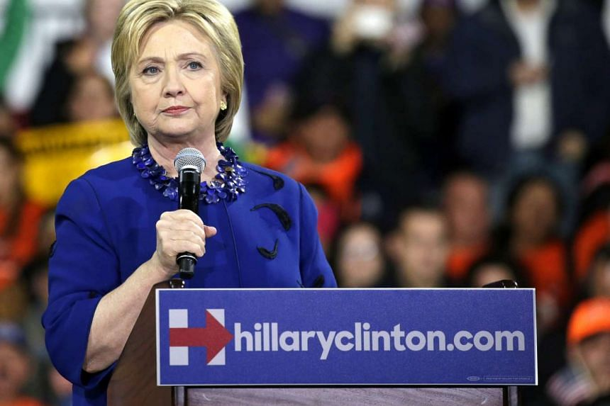 US Democratic presidential candidate Hillary Clinton speaks at campaign rally in New York earlier this month.