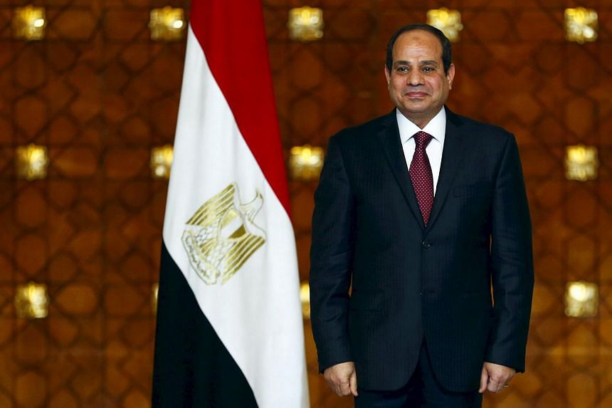 "A television presenter has said that Egypt's President Abdel Fattah al-Sisi (above) is ""not working""."