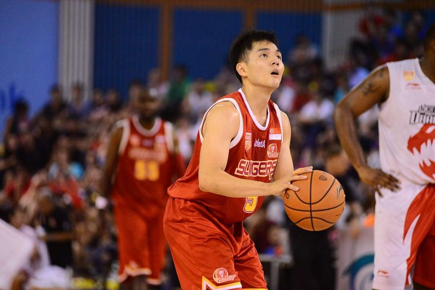 Singapore Slingers players from the match against Westports Malaysia Dragons on March 11, 2016.