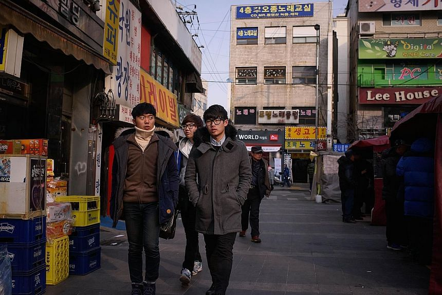 About 500,000 young South Koreans - over 60 per cent of whom are degree holders - enter the job market every year. But only 200,000 permanent positions are available, according to government data.