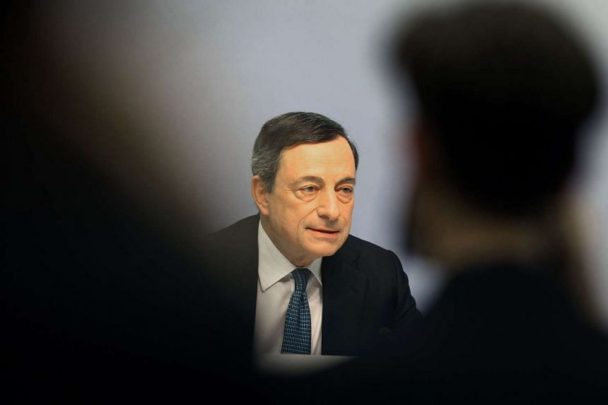 President of the European Central Bank Mario Draghi addresses the media following the meeting of the Governing Council in Germany, on March 10, 2016.
