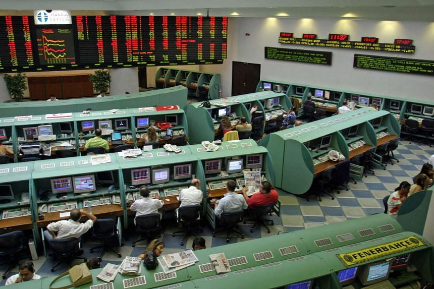 Traders at the Istanbul Stock Exchange in 2007.