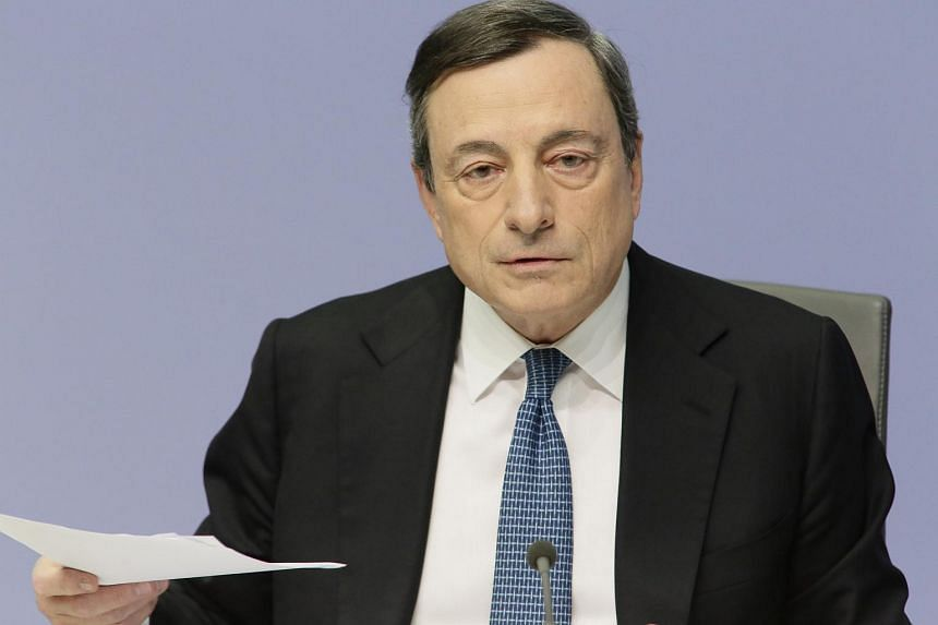 President of the European Central Bank Mario Draghi announces the bank's interest rate decision at the ECB headquarters in Frankfurt, Germany, on March 10, 2016.
