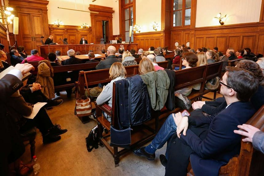 The trial of the Belgian branch of the Church of Scientology, in Brussels, Belgium on March 11, 2016.