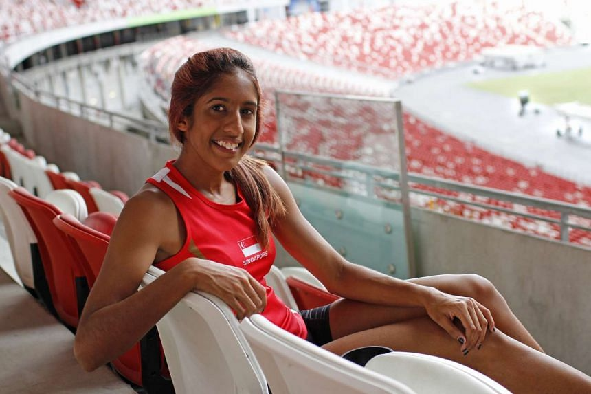 Singapore sprinter Shanti Pereira, who is in the third batch of athletes who will receive the scholarship.