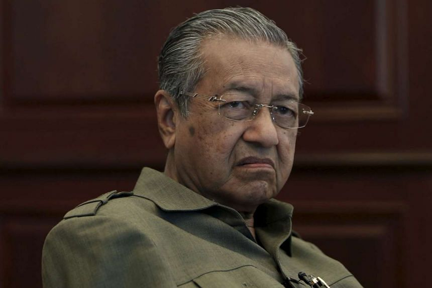 Former Malaysian prime minister Mahathir Mohamad during an interview at his office in Kuala Lumpur on Oct 18, 2013.