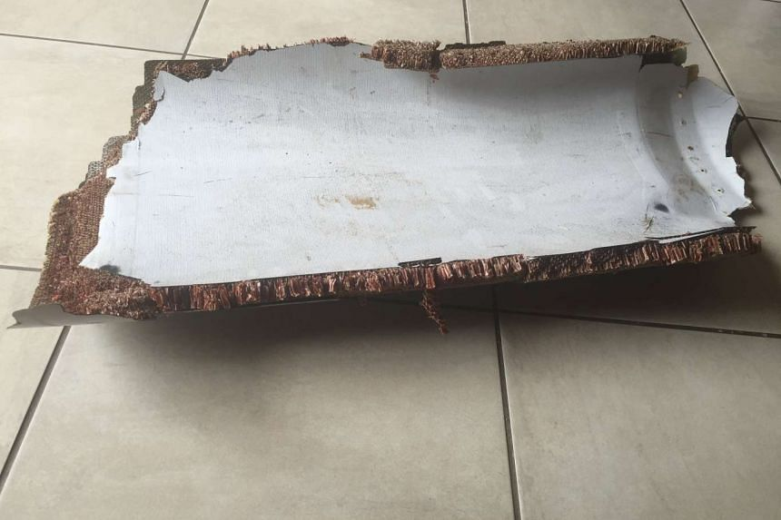 A piece of debris found by a South African family off the Mozambique coast in December 2015, which the authorities will examine to see if it is from missing Malaysia Airlines flight MH370, is pictured in this handout photo released to Reuters on Marc