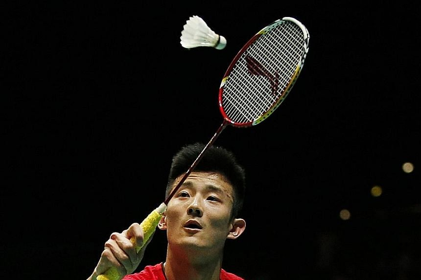 World No. 1 Chen Long, normally an extremely steady player, was inconsistent at the net and in mid-court. Xue, meanwhile, despite eliminating the All England title holder, was not thrilled to beat his close friend.