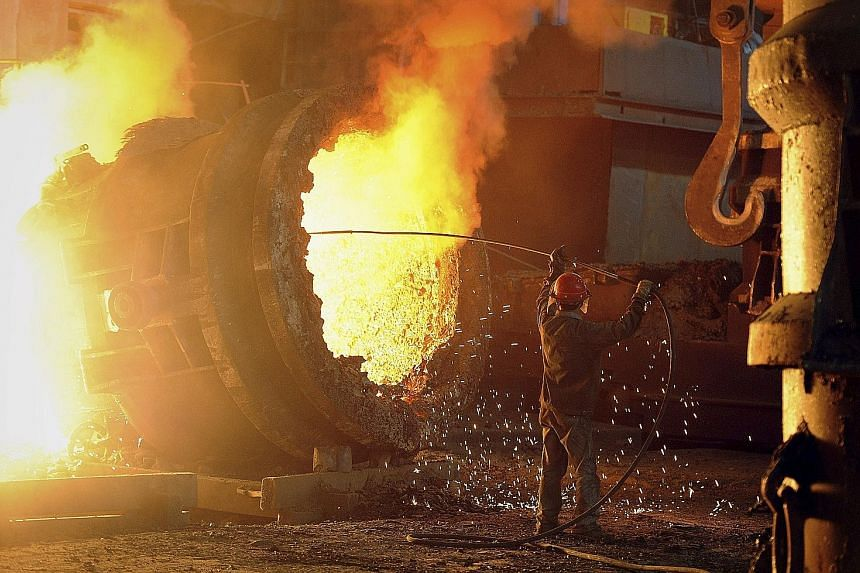 A steel plant in Anhui province in 2011, before the sector fell into a slump. The Chinese government has announced plans to cut steel production by as much as 150 million tonnes within five years to tackle overcapacity, as part of wider efforts to sh