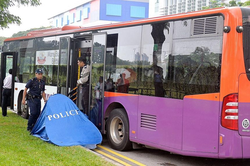 The SCDF said paramedics who arrived at the scene found that Ms Winny Pratiwi had already died. A 64-year-old bus driver was arrested for allegedly causing death by a rash act, said the police.