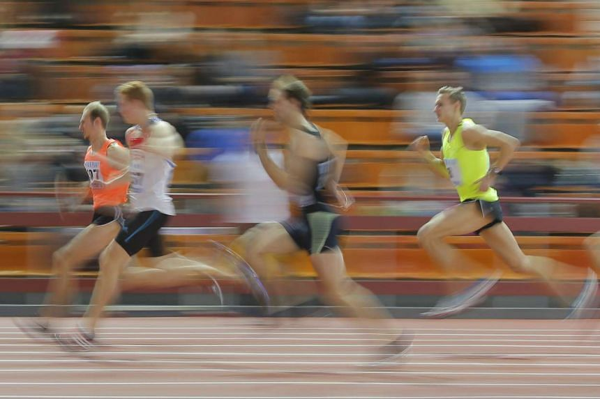 Athletes compete during the Russian Indoor Championships 2016 in Moscow, Russia, Feb 24, 2016.