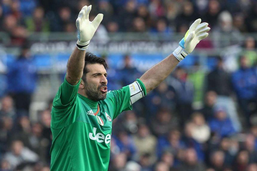 Juventus goalkeeper Gianluigi Buffon.