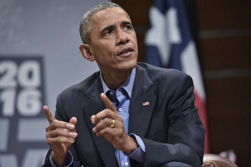US President Barack Obama speaking at SXSW in Austin, Texas, on March 11.