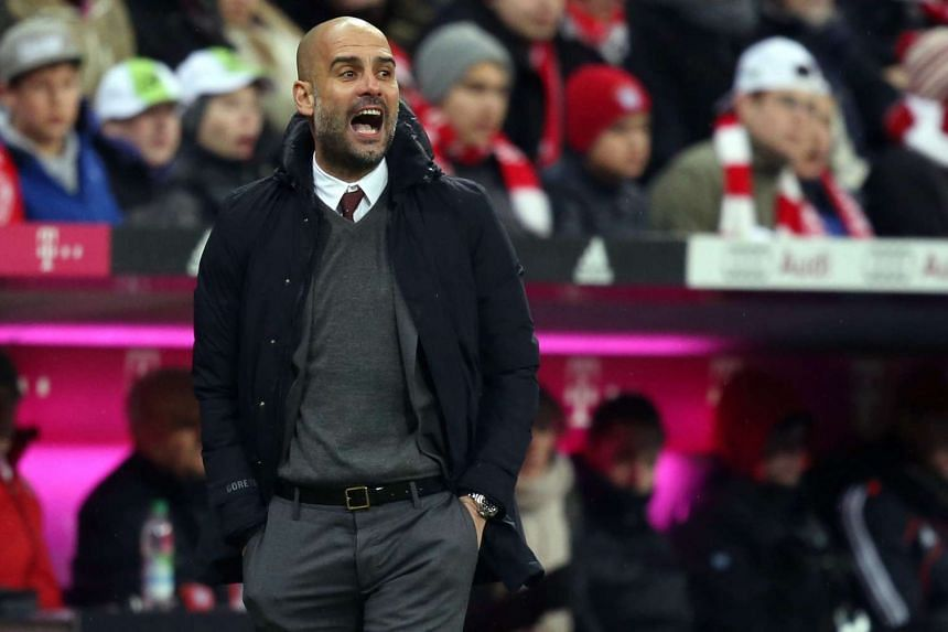 Guardiola (above) wants to leave on a high note by helping Bayern become the first team to win four consecutive Bundesliga titles.