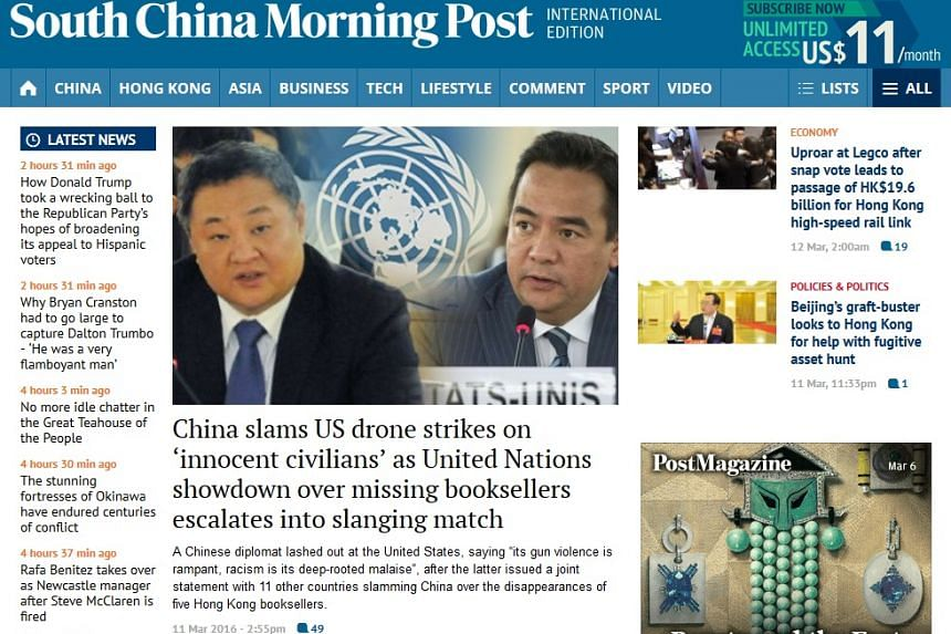 SCMP's website has become inaccessible in China as a series of high-level government meetings takes place in Beijing.