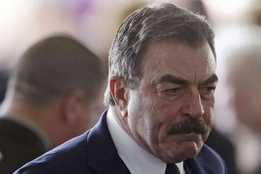 Actor Tom Selleck arrives for the funeral on March 11, 2016, of former first lady Nancy Reagan.